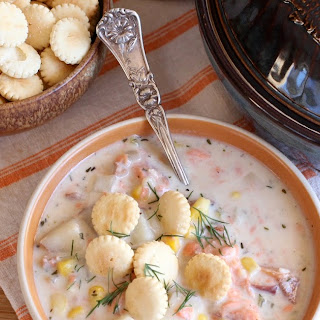 Smoked Salmon Corn Chowder