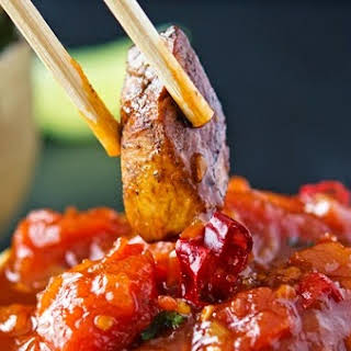 Sichuan Pepper Chicken with Tomato-Chili Jam.