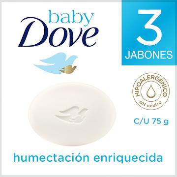 JABÓN TOCADOR DOVE BABY   CORPORAL HUMECTACION ENRIQUECIDA X3UNDX75G.