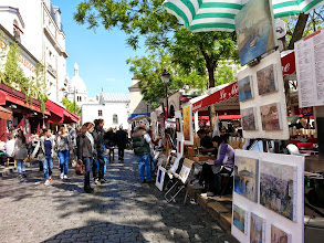 Photo: Place du Tertre -Square full of portrait painting artists - watch out for scammers