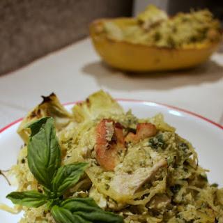 Paleo Artichoke Pesto Pasta with Chicken