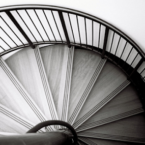Spiral Staircase by Adrian Popescu - Buildings & Architecture Other Interior ( film, interior, stairs, expired, 35 mm, analogue, analogic, analog, black&white )