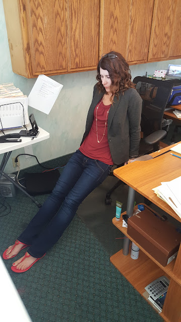 exercise at desk