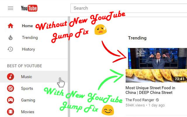 New YouTube Jump Fix