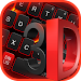 3D Black Red Keyboard icon