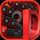 Teclado vermelho 3D preto para PC Windows