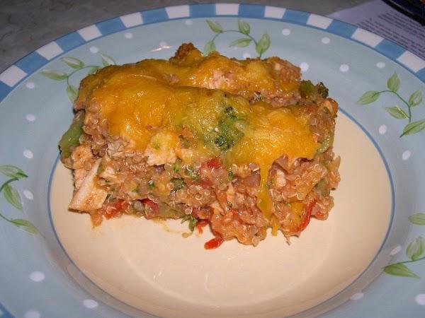 Chicken Cheddar Quinoa Casserole Bake Recipe