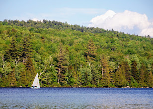 Photo: Sailboat at Ricker Pond State Park by Linda Carlsen Sperry