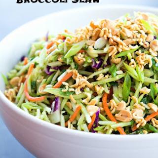 Asian Ramen Noodle Broccoli Slaw.
