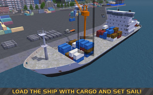 Télécharger gratuit Truck & Crane SIM: Navire cargo APK MOD 2