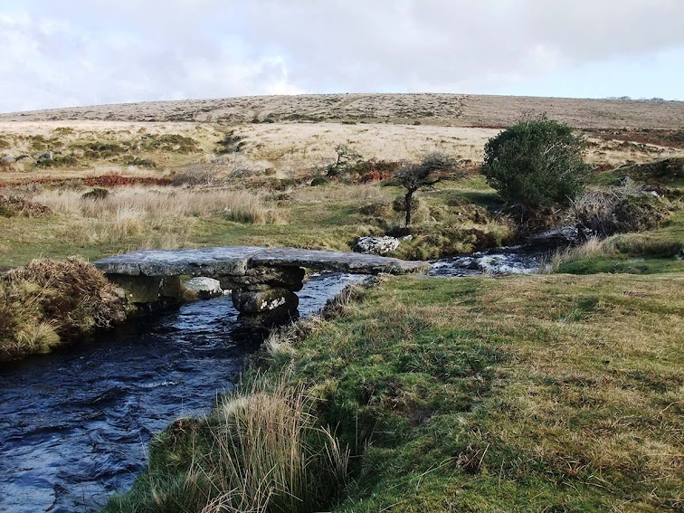 Teign-ever clapper bridge Dartmoor