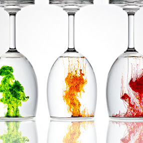 Colors... by Ramakant Sharda - Artistic Objects Glass ( water, orange, red, color, colors, green, glass, reflaction )
