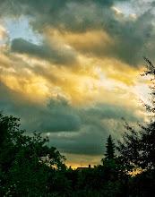 Photo: Mørke skyer over Lyngsøvej, Silkeborg