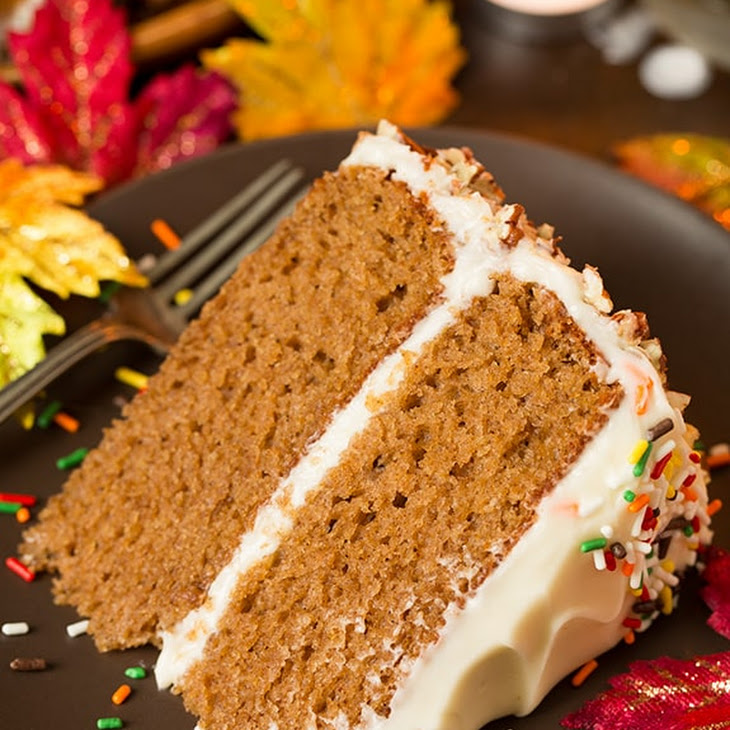 Autumn Spice Cake with Cream Cheese Frosting Recipe