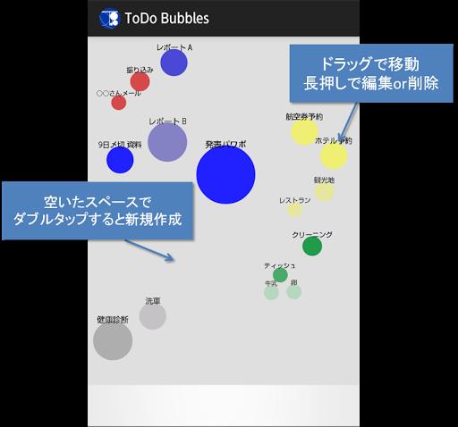 かわったToDoリスト「ToDo Bubbles」