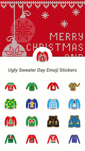 Ugly Sweater Day Emoji Sticker