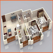 Beautiful 3D Small House Plan icon