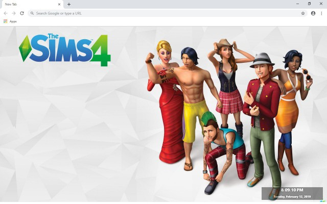 The Sims 4 New Tab & Wallpapers Collection