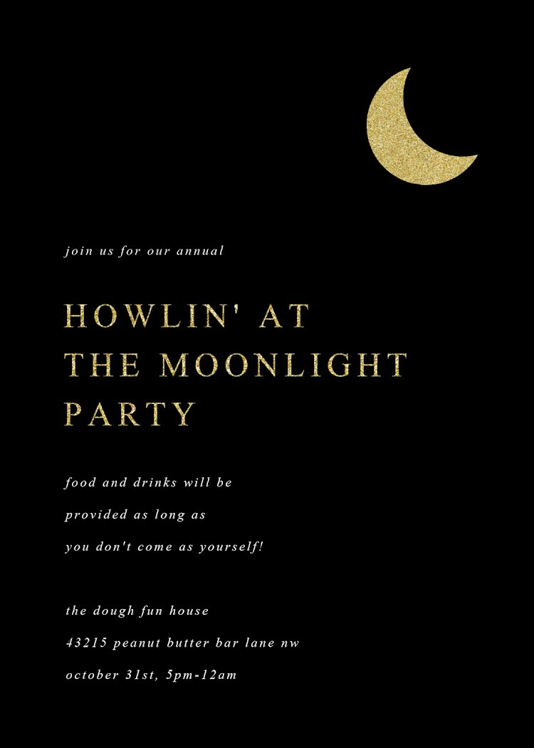 Howlin' at the Moonlight - Halloween Template
