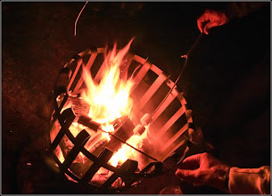Photo: Marshmallows roasting over one of our fire braziers.