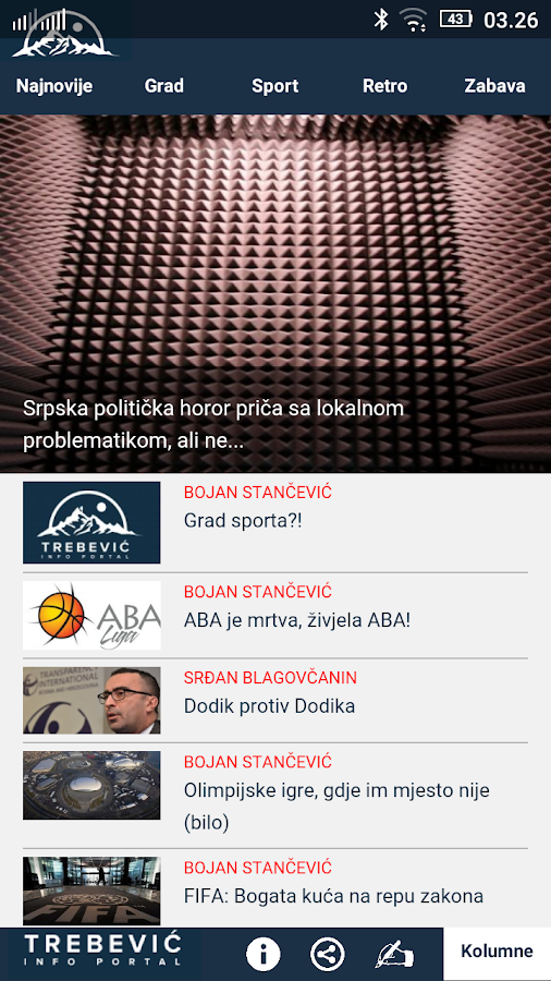 Trebevic.net- screenshot