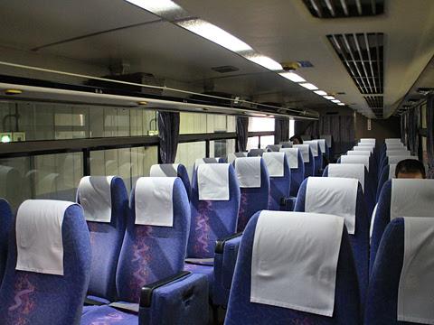 西日本鉄道「とよのくに号」スーパーノンストップ便 4015 車内