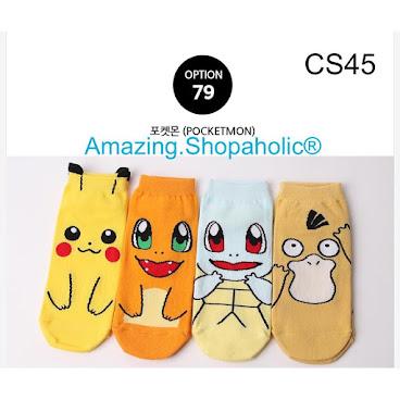 韓國直送 Pokemon卡通襪 CS45