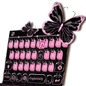 Pink Black Keyboard Theme icon