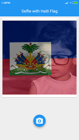 android Selfie with Haiti flag Screenshot 4