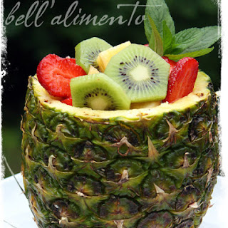 Pineapple filled with Fresh Fruit