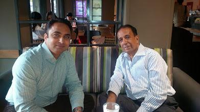 Photo: Husain (L) with Dr Gulab Mewani, Maharashtra Economic Development Council