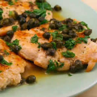 Chicken Piccata with Fried Capers.