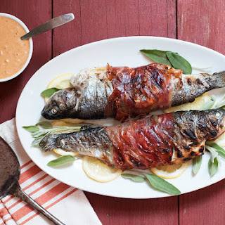 Grilled Prosciutto-Wrapped Trout with Sage & Lemon