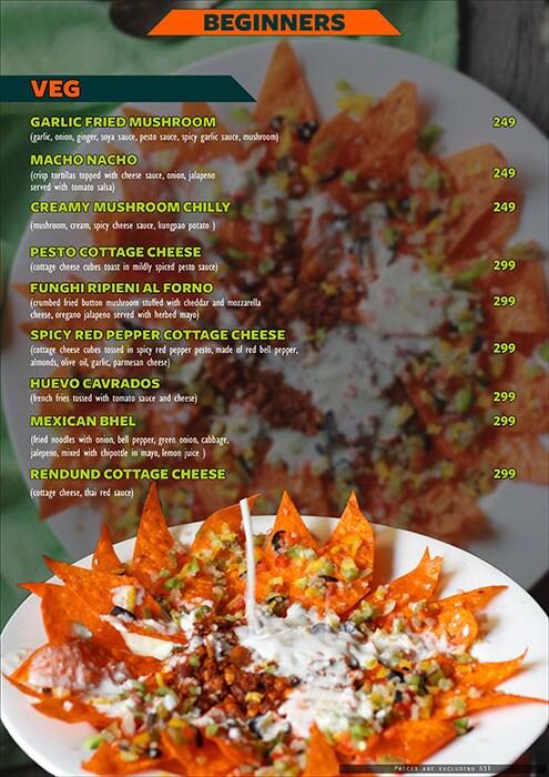 The Fusion Cuzine menu 11