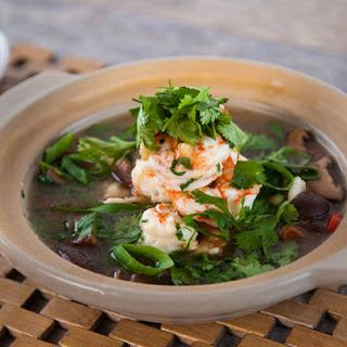 Clear Prawn Thai Soup.