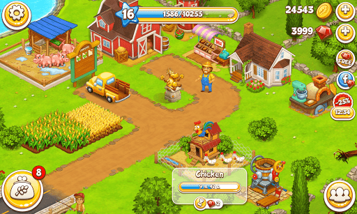 Farm Town: Happy village near small city and town 3.33 screenshots 5