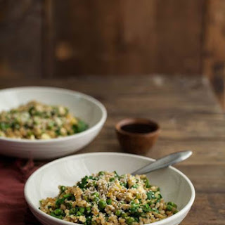 Spinach and Pea Fried Rice.
