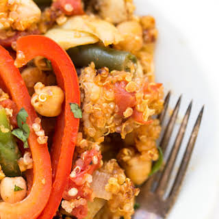 One Pan Vegetable Quinoa Paella.