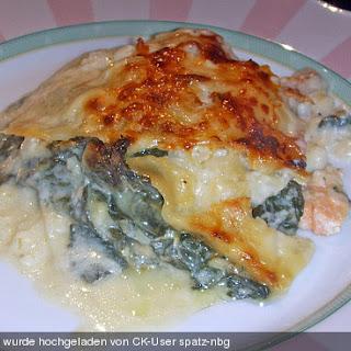 Spinat - Lachs - Lasagne