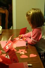 Photo: Emmy making Valentines