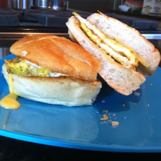 Veggie Egg & Cheese Breakfast Sandwich (Healthy!)