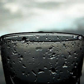 Sweat by Souvik Nandi - Artistic Objects Other Objects ( water, waterdrop, black and white, drop, glass )