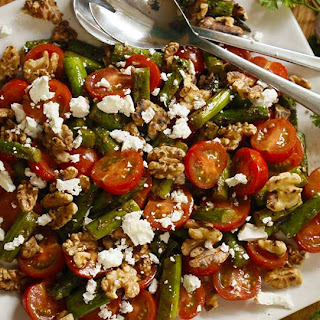 With Feta Cheese And Toasted Walnuts.
