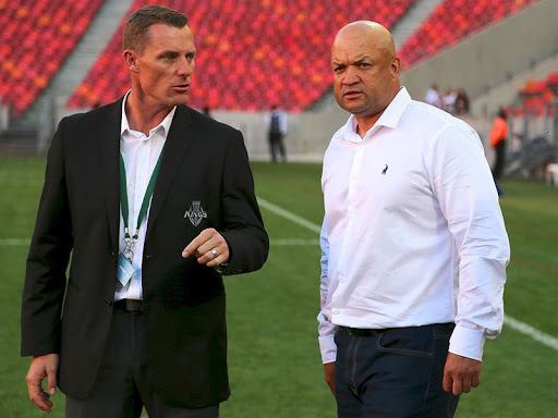 Kings chief operating officer Charl Crous and Kings coach Deon Davids
