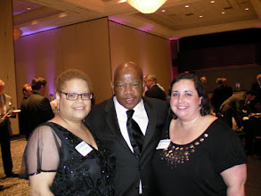 Photo: A living civil rights legend, Rep. John Lewis (D-GA), with Kate and I at the Equality Alabama gala in 2009.