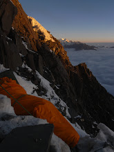 Photo: Bivouac during the first ascent of Ren Zhong Feng in Sichuan, China