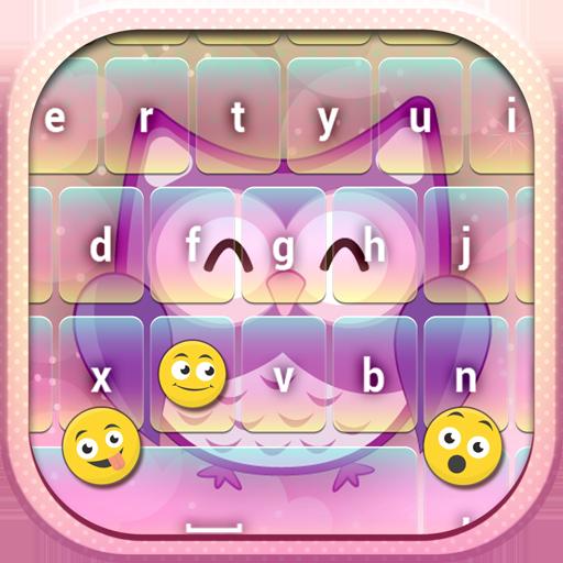 可愛い フクロウ 絵文字 キーボー ドアプリ 通訊 App LOGO-APP試玩