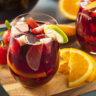 Raspberry Peach Strawberry Sangria.