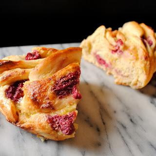 Almond Raspberry Breakfast Twist Bread