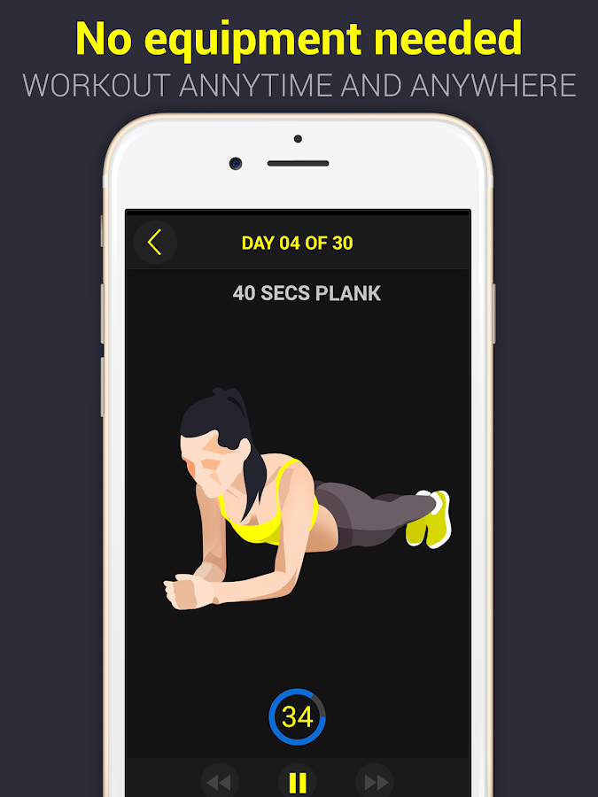30 Day Plank Challenge Free- screenshot